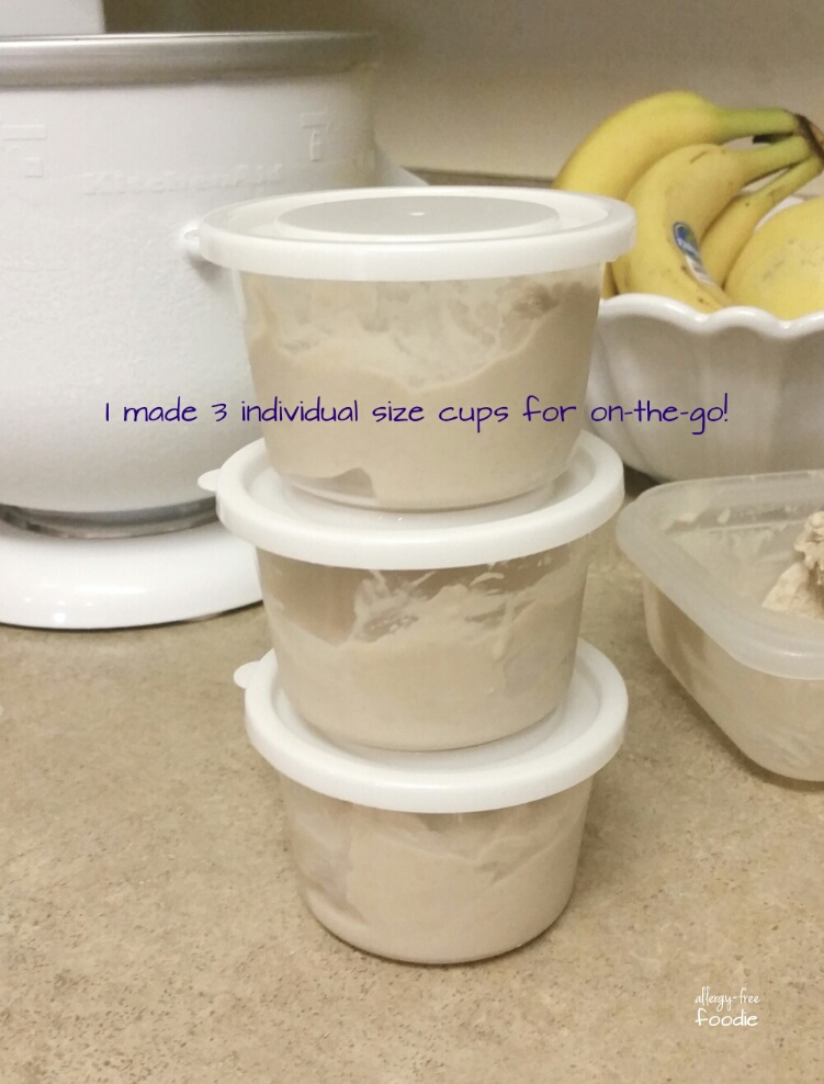 I stored some of the servings in serving size cups in the freezer for an easy grab and go snack!